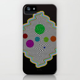 Abstract illusional waves iPhone Case