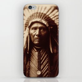 Three Horses by Edward S. Curtis (1905) iPhone Skin