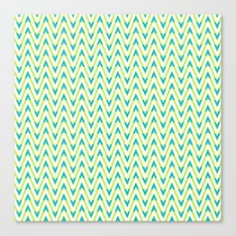 Frequen-Ziggs (Lime Green) Canvas Print