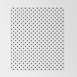 Dots (Black/White) Throw Blanket