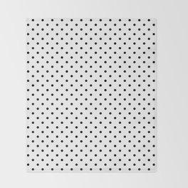 Dots (Black/White) Throw Blanket