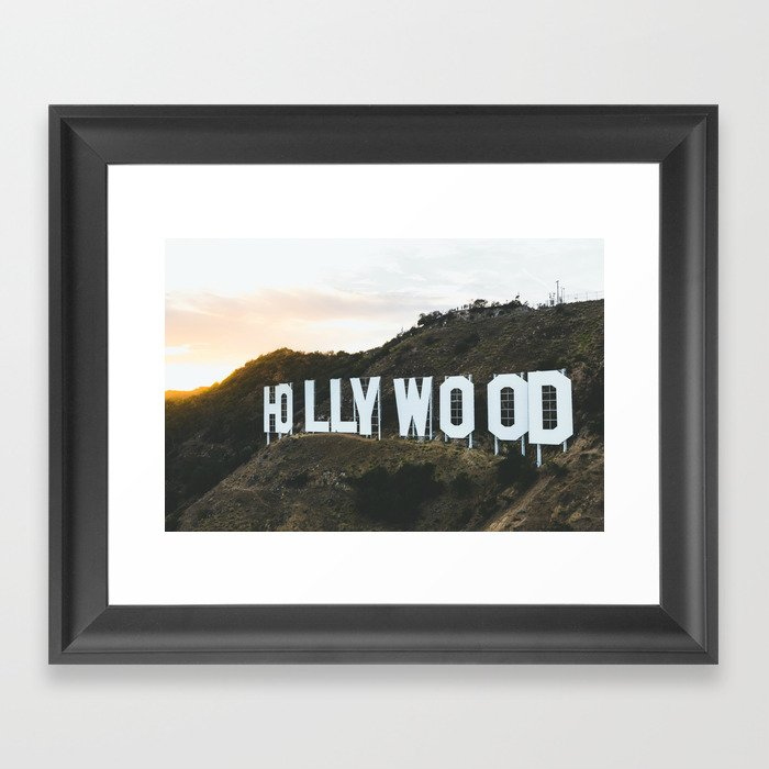 Hollywood Sign (Los Angeles, CA) Gerahmter Kunstdruck