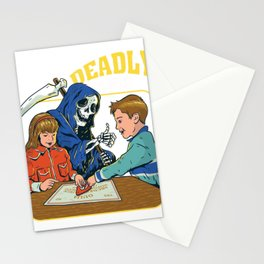 deadly games funny parody  Stationery Cards