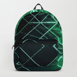green starship deck space aesthetic abstract art print Backpack