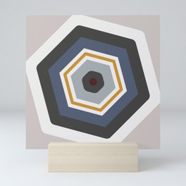 hexagon purple Mini Art Print