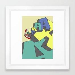 AAAAA!! Framed Art Print