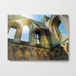 Glastonbury Abbey  Metal Print