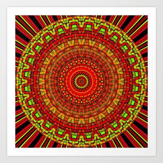 Bright and Cheery Mandala Design Art Print