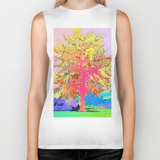 Color Tree Biker Tank