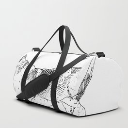 Basset Hound Ink Drawing Duffle Bag