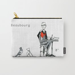 A Few Parisians: Beaubourg by David Cessac Carry-All Pouch