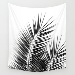 Black Palm Leaves Dream - Cali Summer Vibes #1 #tropical #decor #art #society6 Wall Tapestry