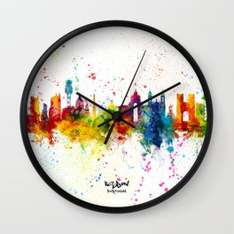 Lisbon Portugal Skyline Wall Clock