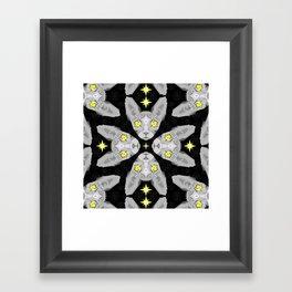 Sphynx Cat Black Pattern Framed Art Print
