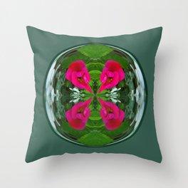 Flower Globe Throw Pillow