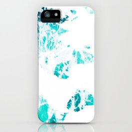 World Map in Turquoise Sea iPhone Case