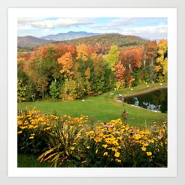 Vermont Foliage Watercolor Art Print