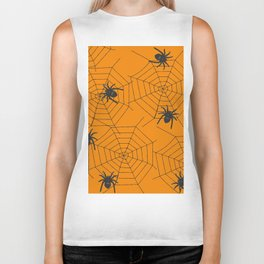 Halloween Spider Illustration Biker Tank