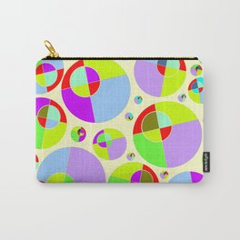 Bubble yellow & purple 10 Carry-All Pouch