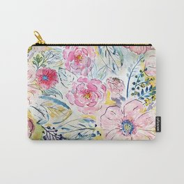 Watercolor hand paint floral design Carry-All Pouch
