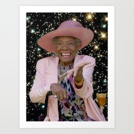Maya Angelou in Outer Space Kunstdrucke