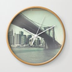 Find Me in New York Wall Clock