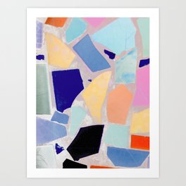 Multicolor Mosaic Shapeshifter Art Print
