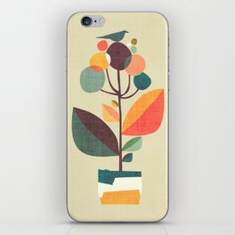 Potted plant with a bird iPhone Skin