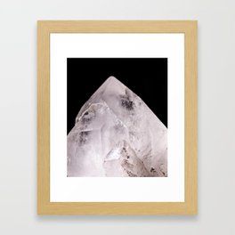 Clear Quartz Crystal Framed Art Print