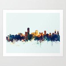 Adelaide Australia Skyline Art Print