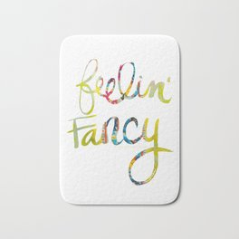 fancy quote fabric Bath Mat