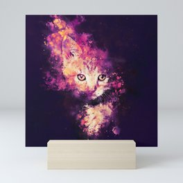 abstract young cat wslsh Mini Art Print