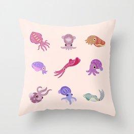 Squids Throw Pillow