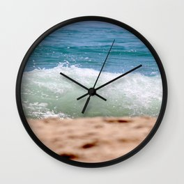 Crashing Ashore Wall Clock