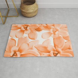 Succulents in Living Coral Color White Background #decor #society6 #buyart Rug