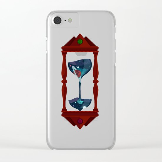 Cosmic Hourglass Clear iPhone Case