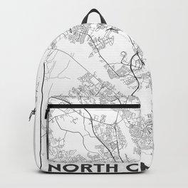 Minimal City Maps - Map Of North Charleston, South Carolina, United States Backpack