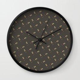 Mini Liff Tiled (DarkGreen) Wall Clock