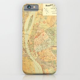 Map Of Budapest 1884 iPhone Case