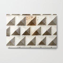 Wall of Palazzo dei Diamanti in Ferrara Metal Print