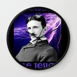 Nikola Tesla Wall Clock
