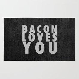 Bacon Loves You Rug
