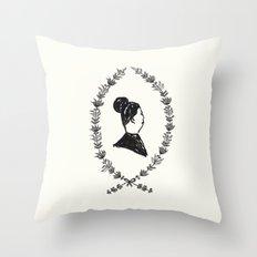Lady Lapel Throw Pillow