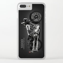 The SS100 Vintage Motorcycle Clear iPhone Case