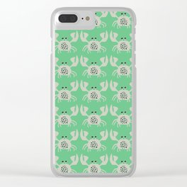 Vintage Crabby Pattern in Green Clear iPhone Case
