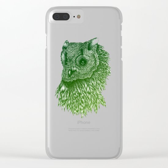 Ombre Owl Clear iPhone Case