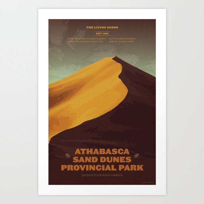 Athabasca Sand Dunes Poster Art Print