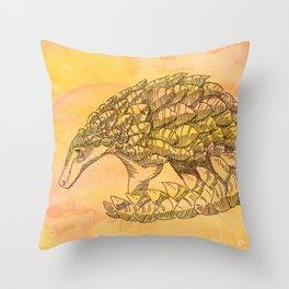 Pangolin Sun Throw Pillow