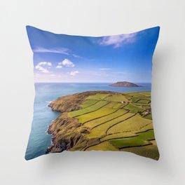 Porth Y Pistyll Throw Pillow