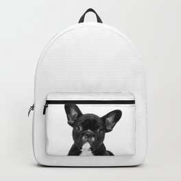 Black and White French Bulldog Backpack